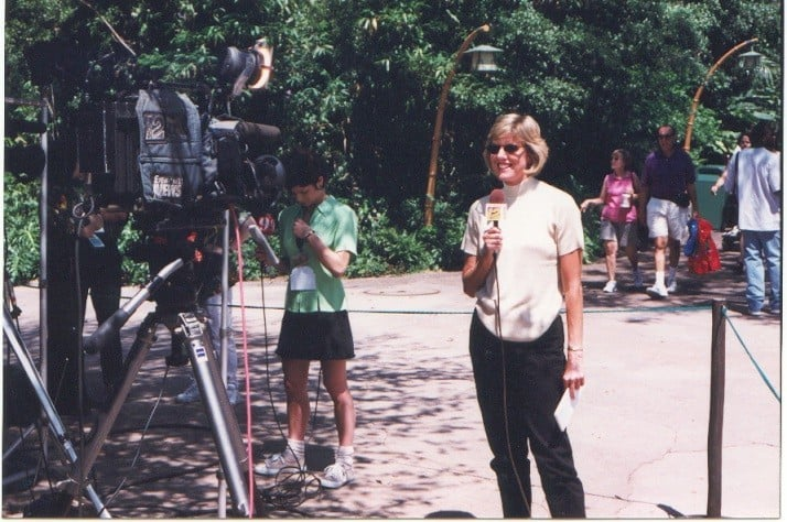 Guess who? Hard to believe it was 1998 and I will never forget reporting on the Grand Opening. Disney was accused of mistreating animals so it turned into a very big news story.