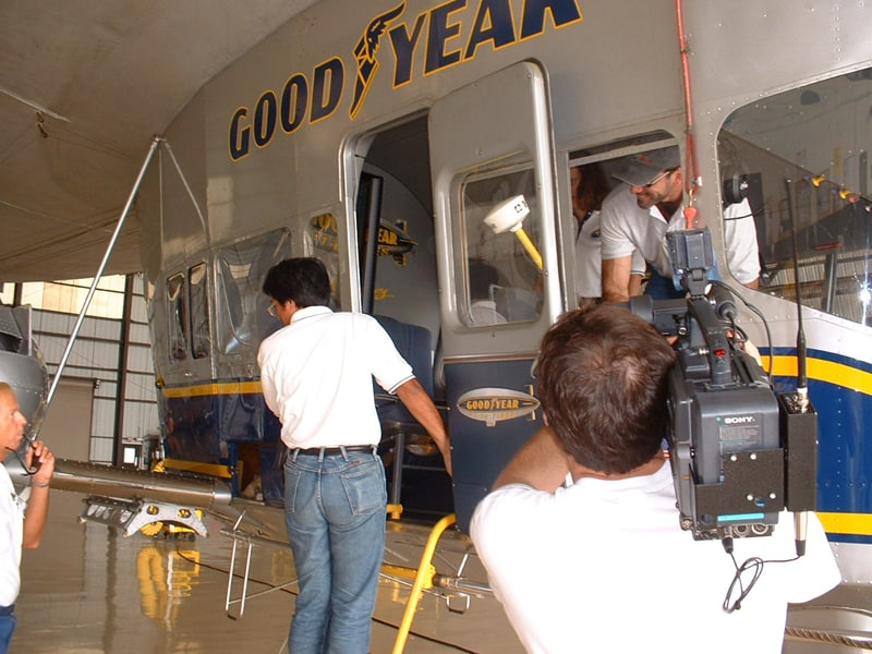 Producing a story for WPBT in Miami. Growing up in South Florida, it was amazing to not only get to ride inside the blimp, but to interview the pilots and produce a story on it!