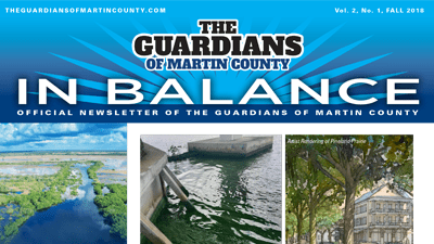 "Fall Newsletter ""In Balance"" for The Guardians of Martin County"