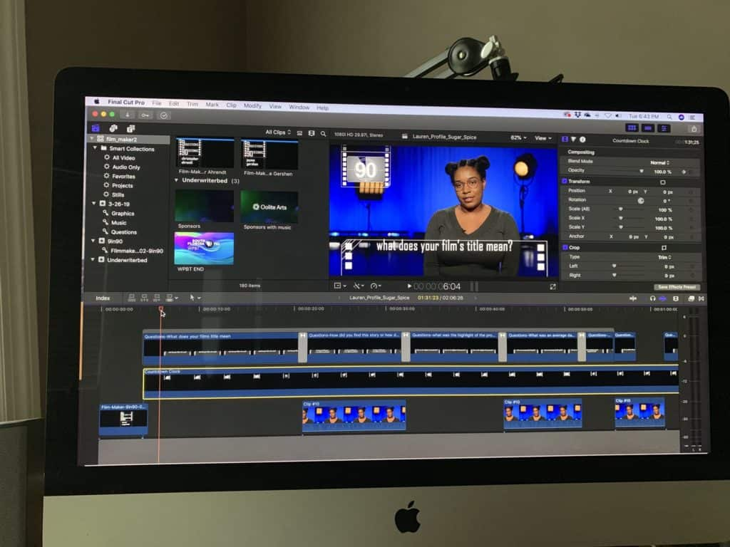 """Editing """"film-maker"""" profiles for South Florida PBS"""