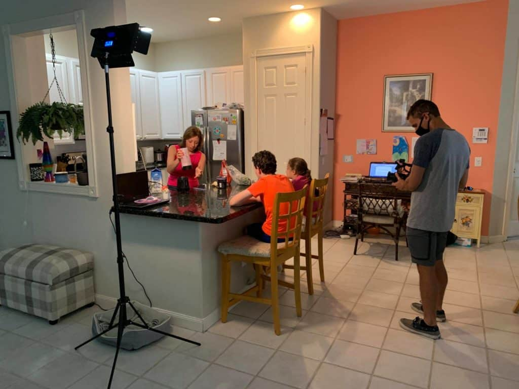 Behind The Scenes for South Florida PBS Production on telemedicine, August 2021